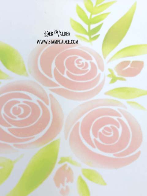 Soft Stenciled Vellum Roses (the stencil) can be found in our Shoppe - Teaspoon of Fun