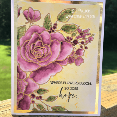 Learn to Watercolor a Rose with Deb Valder