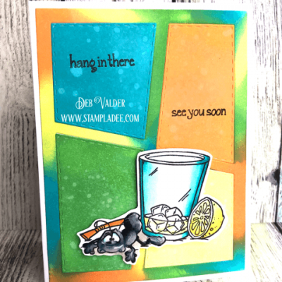Learn How to Tie Dye Your Stamped Cards with Deb Valder