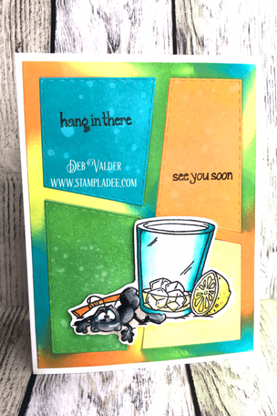 Learn to Tie Dye your stamped cards. All products can be found in our Teaspoon of Fun Shoppe.