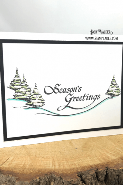 Season's Greetings stamp set can be found in our Teaspoon of Fun Shoppe