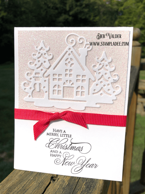 Elegant Christmas cards that you can make in minutes. All products can be found in our Teaspoon of Fun Shoppe.