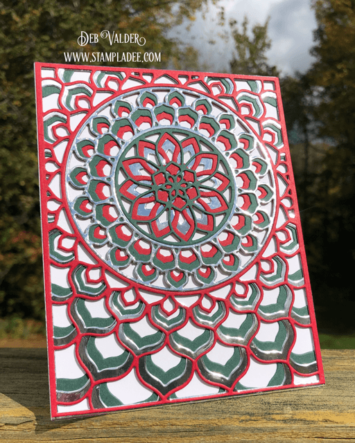 Holiday Kaleidoscope Cards are gorgeous. The Epiphany Die can be found in our Teaspoon of Fun Shoppe.