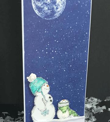 Slimline Mama with Baby Snowman and Deb Valder