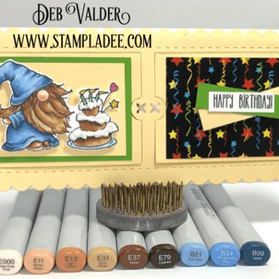 Slimline Peekaboo Popup Card with Deb Valder