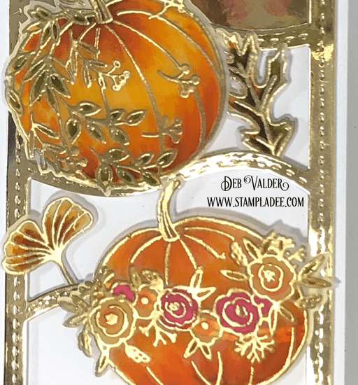 Autumn Bliss and the Slimline Wave die can be found in our Teaspoon of Fun Shoppe.