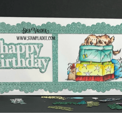 Anita Jeram stamps for a Birthday Celebration. All products used can be found in our Teaspoon of Fun Shoppe.