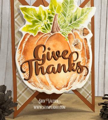 Tri-Fold Pumpkin Card with Deb Valder