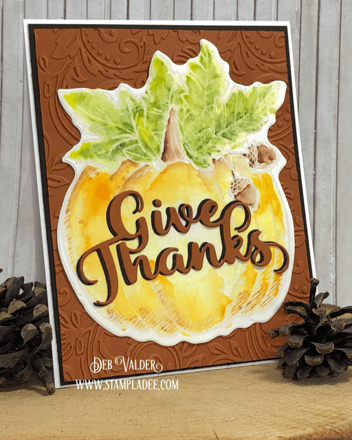 Watercolor Thanksgiving Stamp & Die Combo. All products can be found in our Teaspoon of Fun Shoppe.