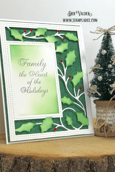 Holly Vine Sidekick Frame and Stencil with Deb Valder. All products can be found in our Teaspoon of Fun Shoppe.