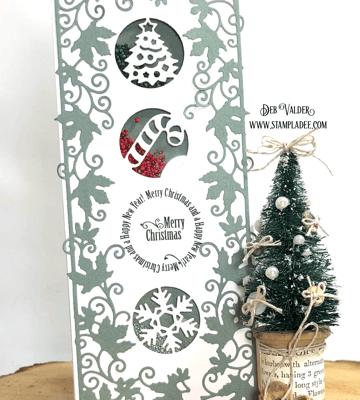 Slimline Christmas Circle Cutouts that Shake with Deb Valder