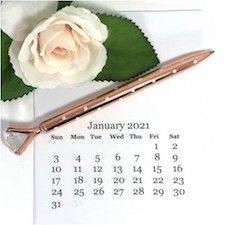 2021 Blank Calendar on Frosty Friends. All products can be found in our Teaspoon of Fun Shoppe.