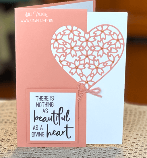 A giving heart is another one of our Edger Dies. All products can be found in our Teaspoon of Fun Shoppe.