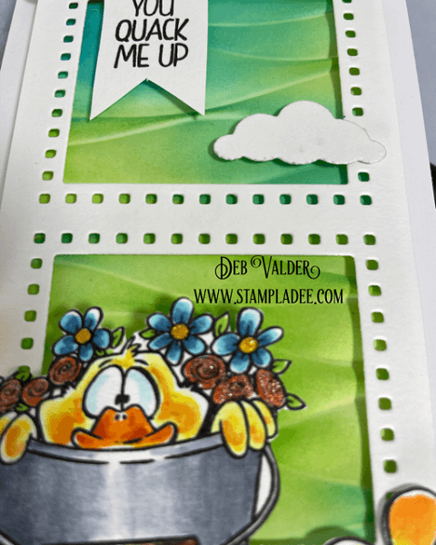 You Quack Me Up! It's a slimline card. All products can be found in our Teaspoon of Fun Shoppe.