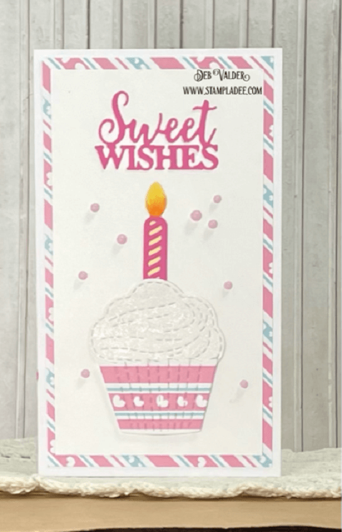 Mini Slimline Sweet Wishes. Treat Yourself Cupcakes and all products can be found in our Teaspoon of Fun Shoppe.