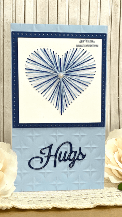 String Art Cards Tutorial on a Mini Slimline Card. All products can be found in our Teaspoon of Fun Shoppe.