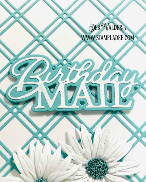 Clean & Simple Birthday Mail. All products can be found in our Teaspoon of Fun Shoppe.