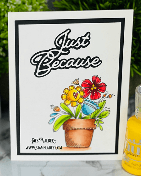 Crazy Cute Flower Pot Card. All products can be found in our Teaspoon of Fun Shoppe.