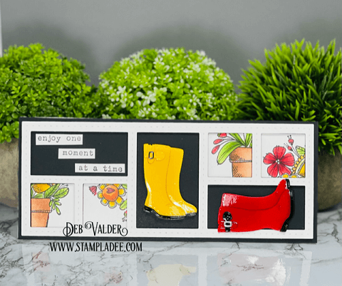 Where flowers bloom. Rain Boots Bouquet Kit can be found in our Teaspoon of Fun Shoppe.