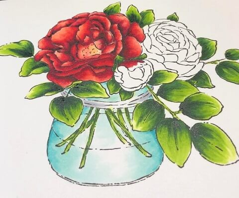 A jar of beauty is a card I watercolored. All products can be found in our Teaspoon of Fun Shoppe.