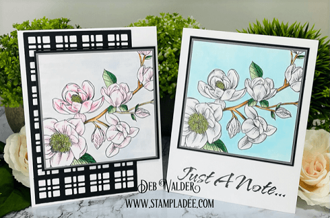 Clean and Simple Cards can be very elegant. All products can be found in our Teaspoon of Fun Shoppe.