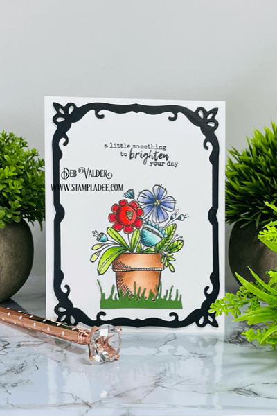 Something to Brighten Your Day is part of our Rain Boots Bouquet Kit. All products can be found in our Teaspoon of Fun Shoppe.