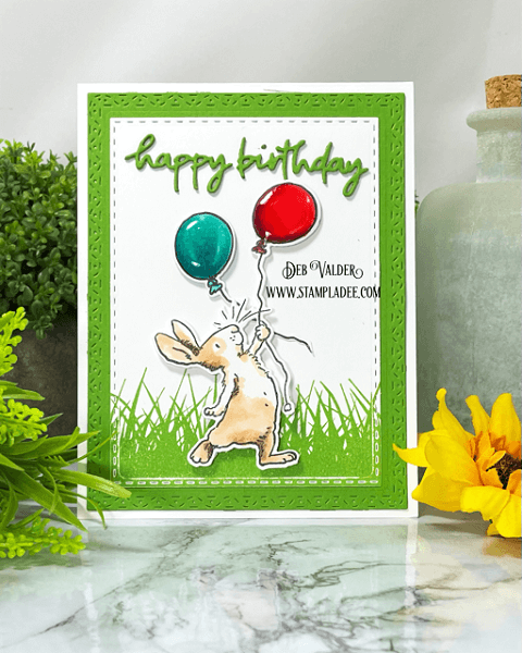 Happy Birthday Balloons with Anita Jeram. All products can be found in our Teaspoon of Fun Shoppe www.TeaspoonOfFun.com/SHOP