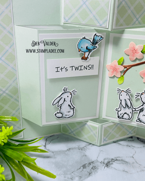 Storybook Popup Card Tutorial using the Bunnies & Robin Stamp combo. All products can be found in our Teaspoon of Fun Shoppe at www.TeaspoonOfFun.com/SHOP