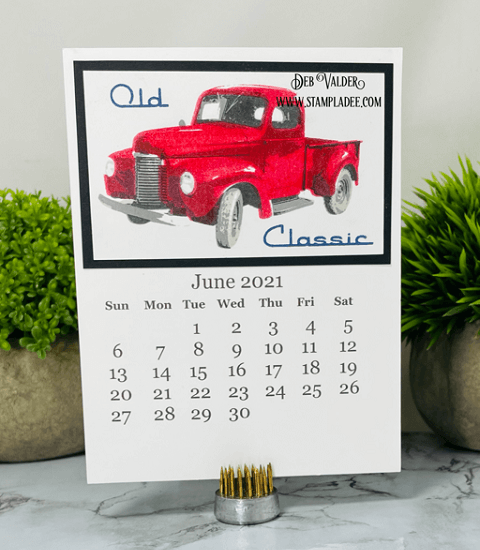 Welcome June 2021. We are using a classic old truck today. All products can be found in our Teaspoon of Fun Shoppe at www.TeaspoonOfFun.com/SHOP