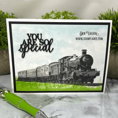 Steam Train Masculine Card with Deb Valder