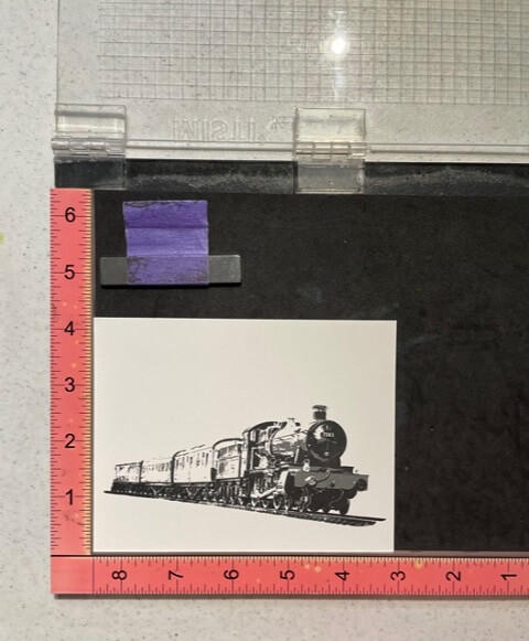 Steam Train Masculine Card. All products can be found in our Teaspoon of Fun Shoppe at www.TeaspoonOfFun.com/SHOP