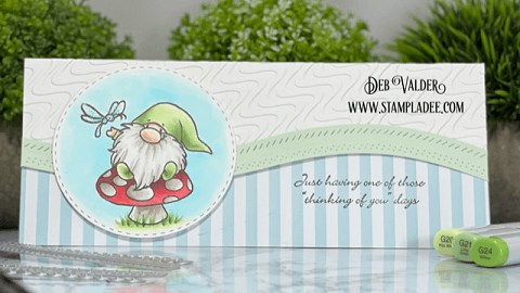 One of those days. All products for this cute little slimline card can be found in our Teaspoon of Fun Shoppe at www.TeaspoonOfFun.com/SHOP