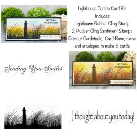 Lighthouse Combo Card Kit is our newest kit in the shoppe. All products can be found in our Teaspoon of Fun Shoppe at www.TeaspoonOfFun.com/SHOP