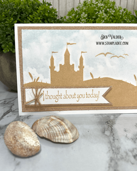 Sand Castle on the Hill. Love the beach. All products can be found in our Teaspoon of Fun Shop here www.TeaspoonOfFun.com/SHOP