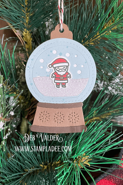 Snow Globe Gift Tag. All the products for this project can be found in our Teaspoon Of Fun Shop at www.TeaspoonOfFun.com/SHOP
