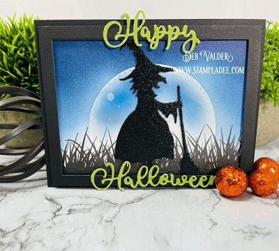 Moonlight Halloween Witch Silhouette with Deb Valder
