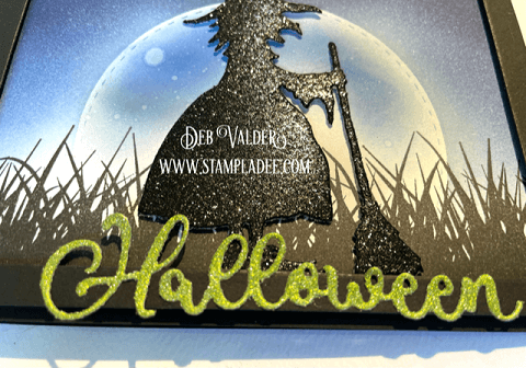 Moonlight Halloween Witch Silhouette. All products can be found in our Teaspoon of Fun Shop at www.TeaspoonOfFun.com/SHOP