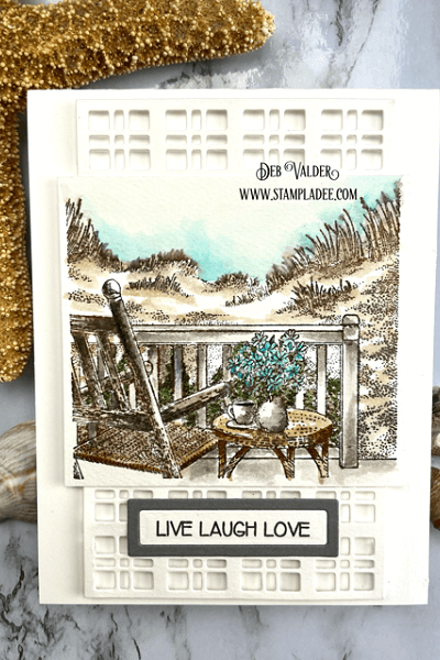 High Tide Beach Watercolor card. All products can be found in our Teaspoon of Fun Shop at www.TeaspoonOfFun.com/SHOP