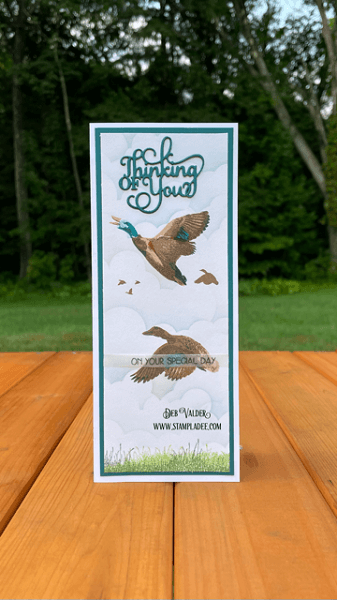 Mallard Duck Layered Stamping. All products can be found in our Teaspoon of Fun Shop at www.TeaspoonOfFun.com/SHOP