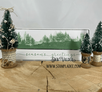 Clean and Simple Winter Greetings with Deb Valder