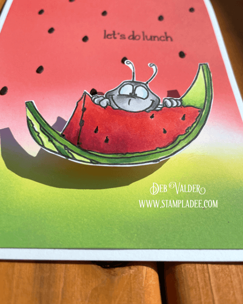 Wobble Watermelon Ant Picnic. All products for this card can be found in our Teaspoon of Fun Shop at www.TeaspoonOfFun.com/SHOP