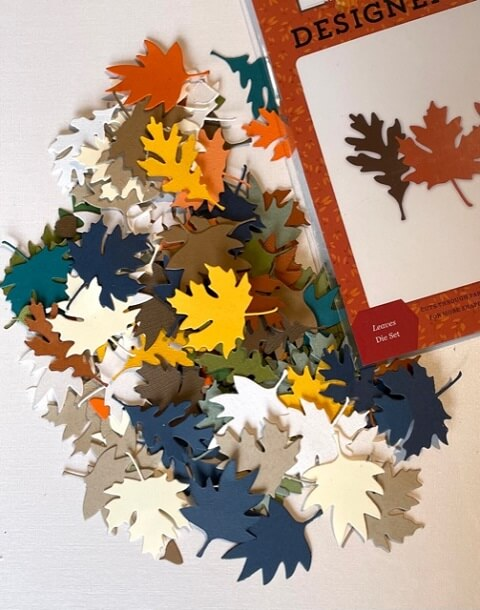 Elegance in Fall Leaves Die. All products can be found in our Teaspoon of Fun shop at www.TeaspoonOfFun.com/SHOP
