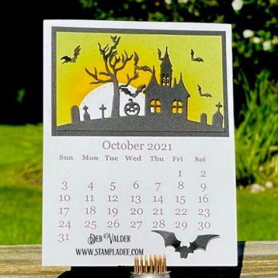 2021 October Calendar Page with Deb Valder