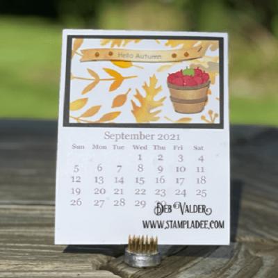 2021 September Calendar Page with Deb Valder