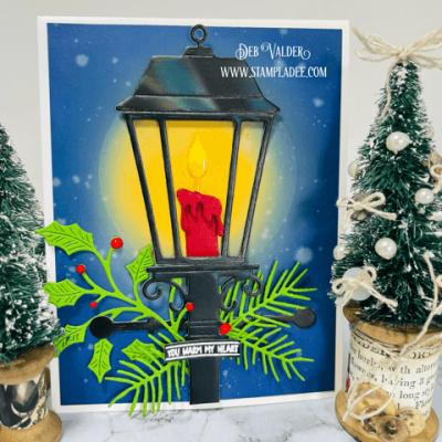 Glowing Christmas Lantern with Deb Valder